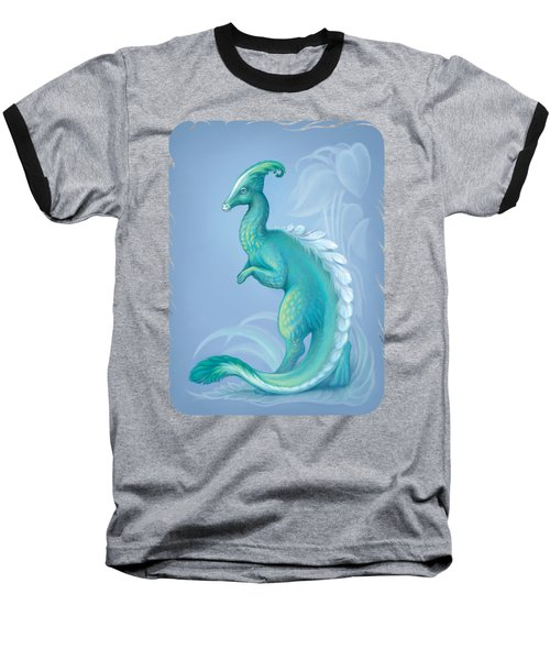 Feathered Dinosaur, Parasaurolophus Baseball T-Shirt