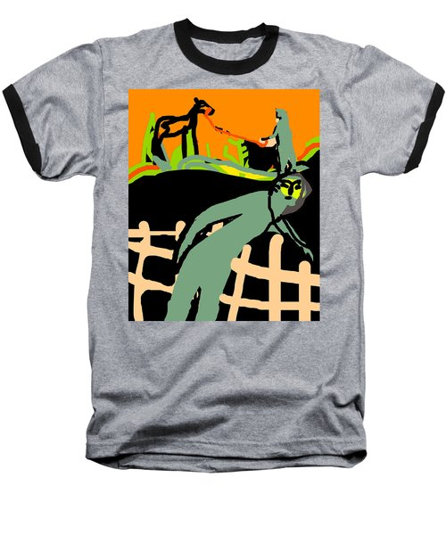 Fence Worker Baseball T-Shirt