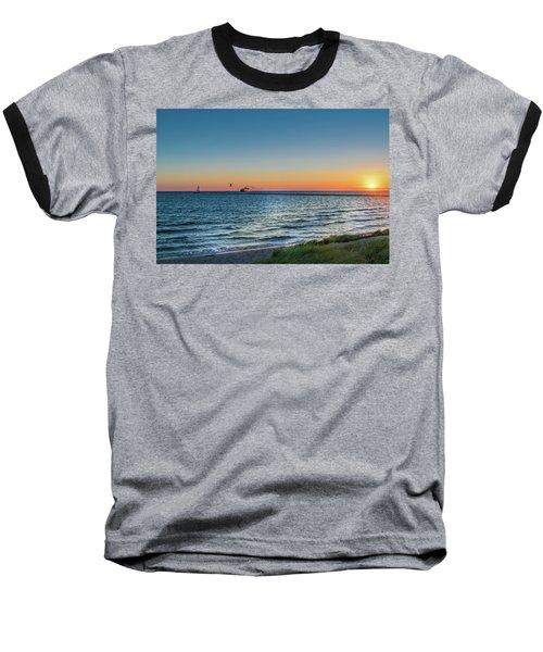 Ferry Going Into Sunset Baseball T-Shirt
