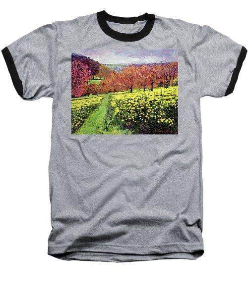 Fields Of Golden Daffodils Baseball T-Shirt