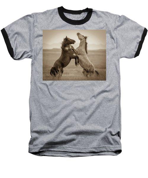 Fighting Stallions Baseball T-Shirt