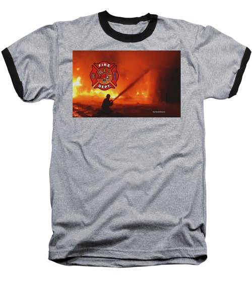 Fire Fighting 5 Baseball T-Shirt