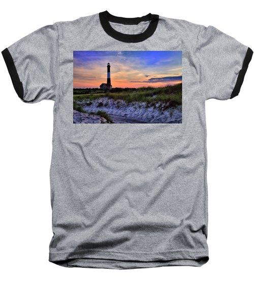 Fire Island Lighthouse Baseball T-Shirt