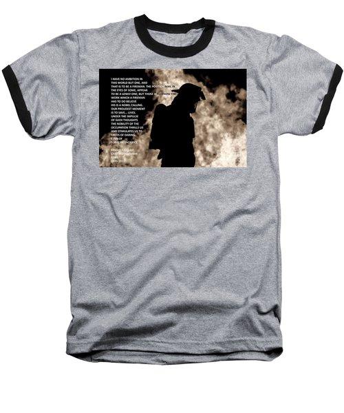 Firefighter Poem Baseball T-Shirt