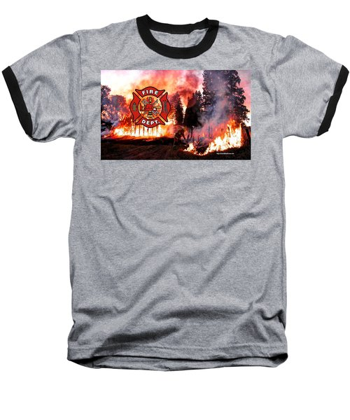 Firefighting 2 Baseball T-Shirt