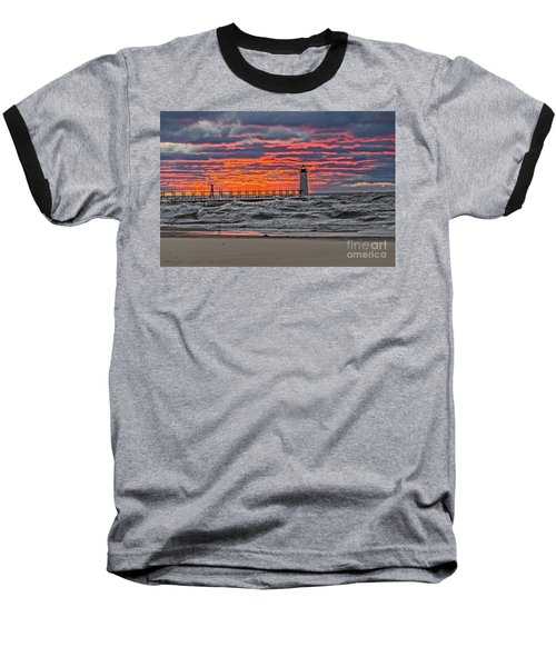 First Day Of Fall Sunset Baseball T-Shirt
