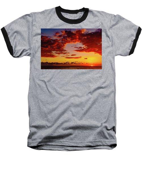 First November Sunset Baseball T-Shirt