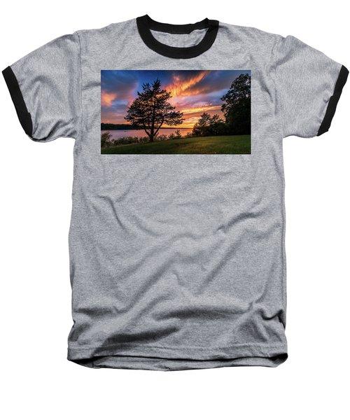 Fishing At End Of Day Baseball T-Shirt