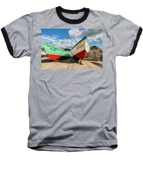 Fishing Boats In Frenchtown Baseball T-Shirt