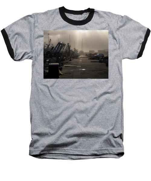 Fishing Boats Moored In The Harbor Baseball T-Shirt
