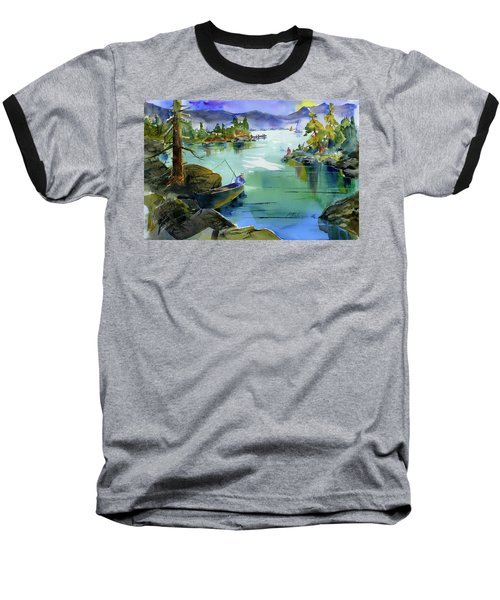 Fishing Lake Tahoe Baseball T-Shirt