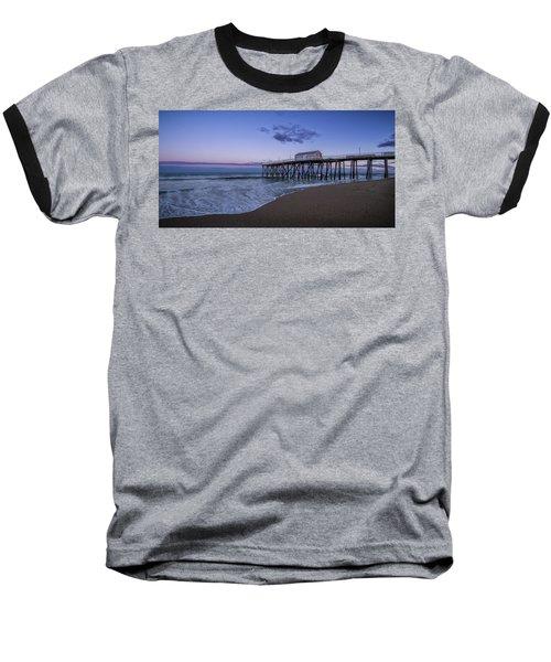 Fishing Pier Sunset Baseball T-Shirt
