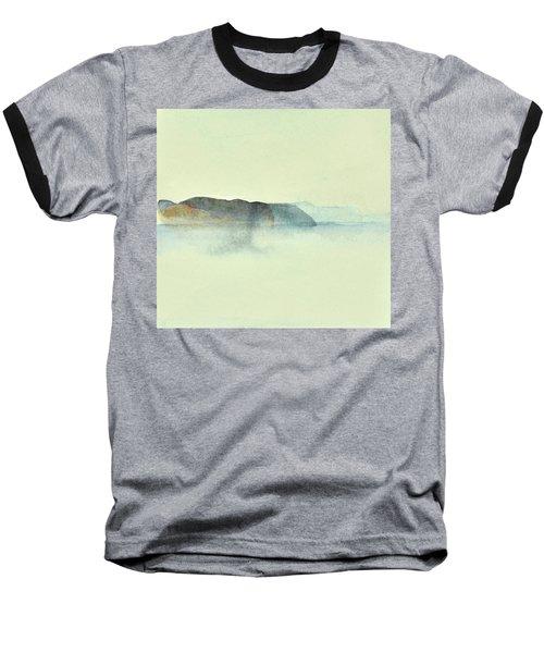 Fiske I Morgondis Hunnebo Vaestkusten   Fishing In Morning Haze Hunnebo Swedish Archipelago 76x73cm  Baseball T-Shirt