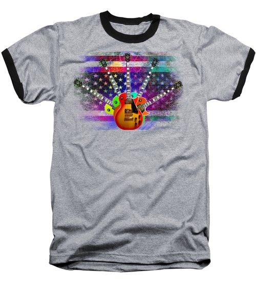 Baseball T-Shirt featuring the photograph Five Guitars by Guitar Wacky