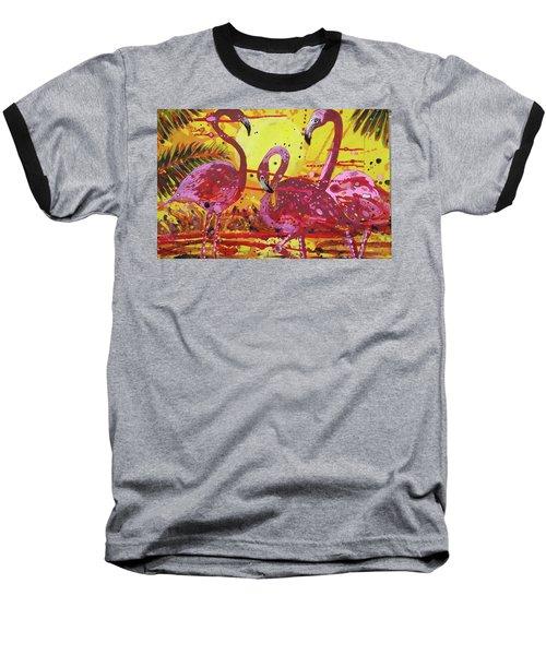 Flamingo Sunset Baseball T-Shirt