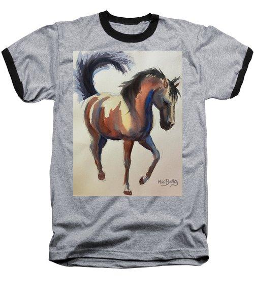 Flashing Bay Horse Baseball T-Shirt