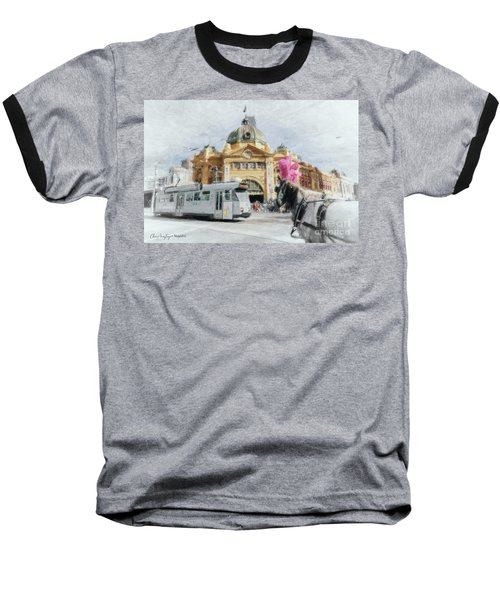 Flinders Street Station, Melbourne Baseball T-Shirt