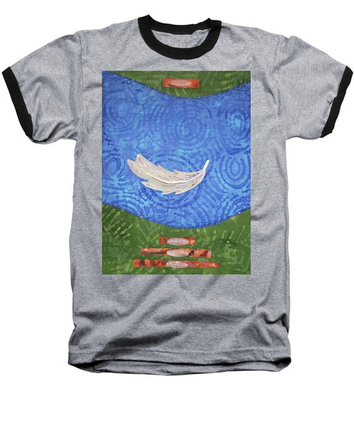 Floating Feather Baseball T-Shirt