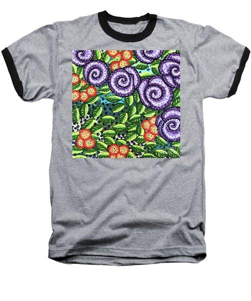 Floral Whimsy 11 Baseball T-Shirt