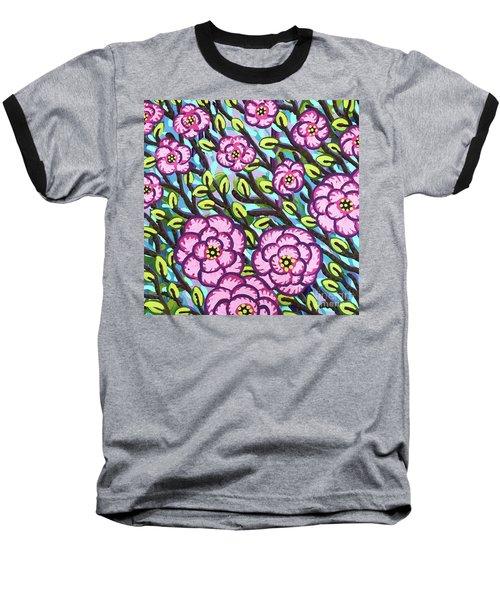 Floral Whimsy 3 Baseball T-Shirt