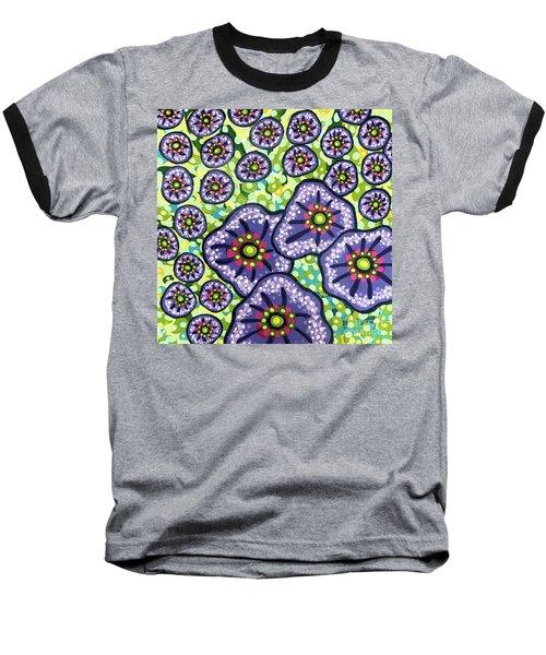 Floral Whimsy 4 Baseball T-Shirt