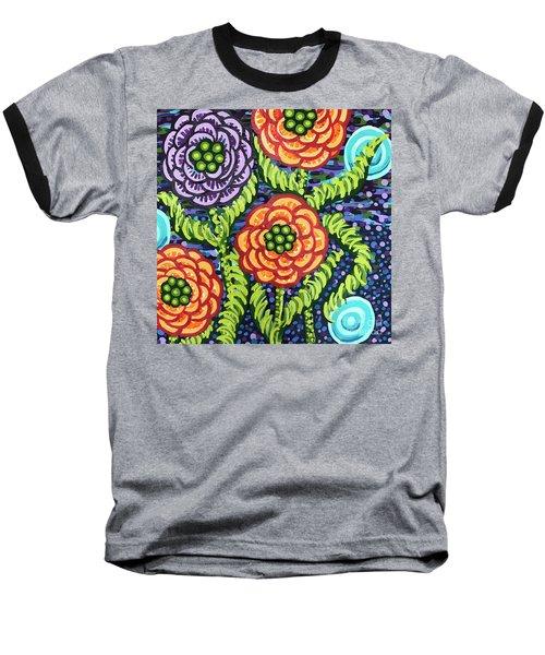 Floral Whimsy 5 Baseball T-Shirt
