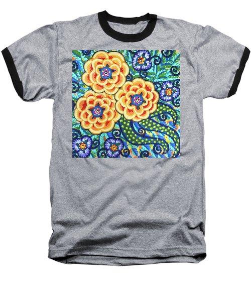 Floral Whimsy 9 Baseball T-Shirt