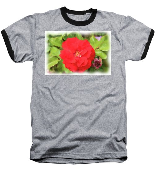 Flower Painting Baseball T-Shirt