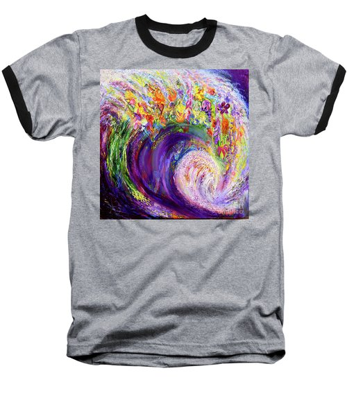 Flower Wave Baseball T-Shirt