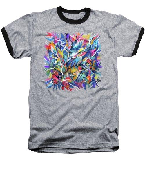 Flowered Vine Baseball T-Shirt