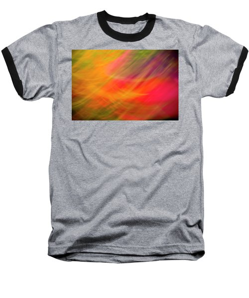 Flowers In Abstract Baseball T-Shirt