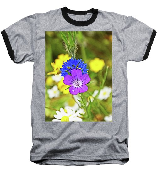 Flowers In The Meadow. Baseball T-Shirt