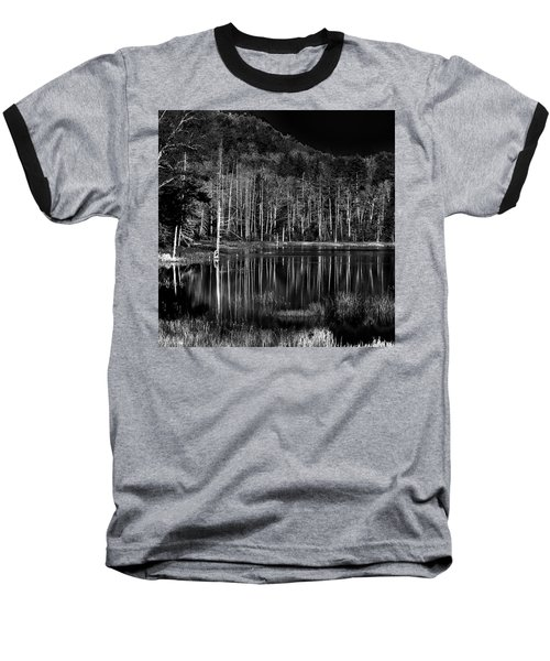 Baseball T-Shirt featuring the photograph Fly Pond Reflection by David Patterson