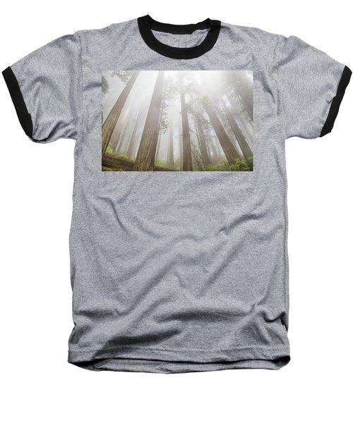 Fog In The Redwoods Baseball T-Shirt