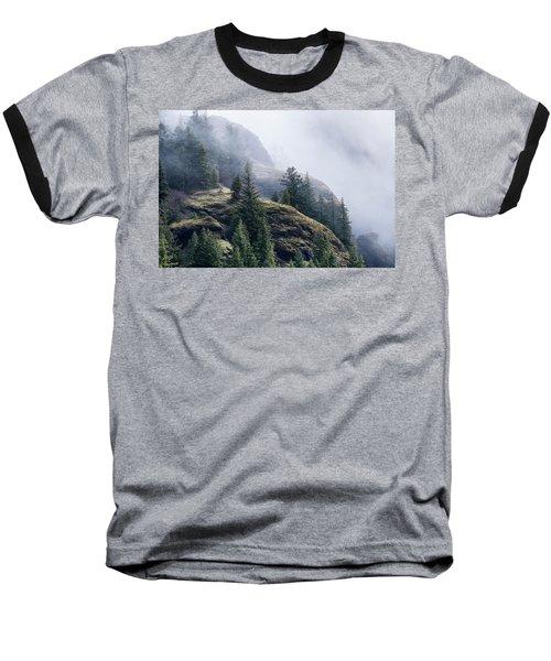 Foggy On Saddle Mountain Baseball T-Shirt