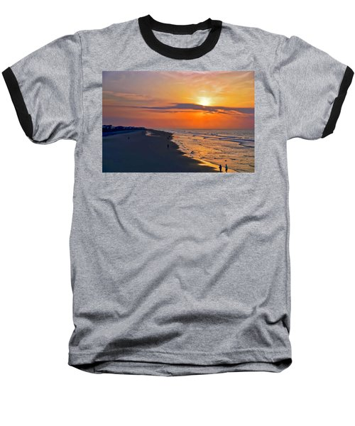 Folly Beach Sunrise Baseball T-Shirt