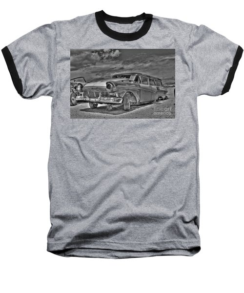 Ford Country Squire Wagon - Bw Baseball T-Shirt