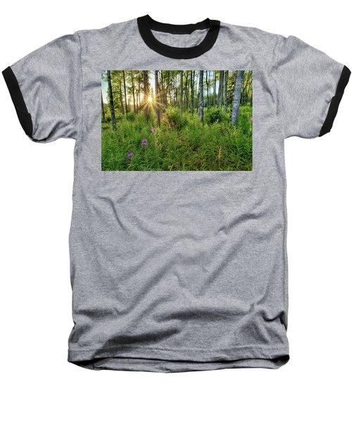 Forest Growth Alaska Baseball T-Shirt