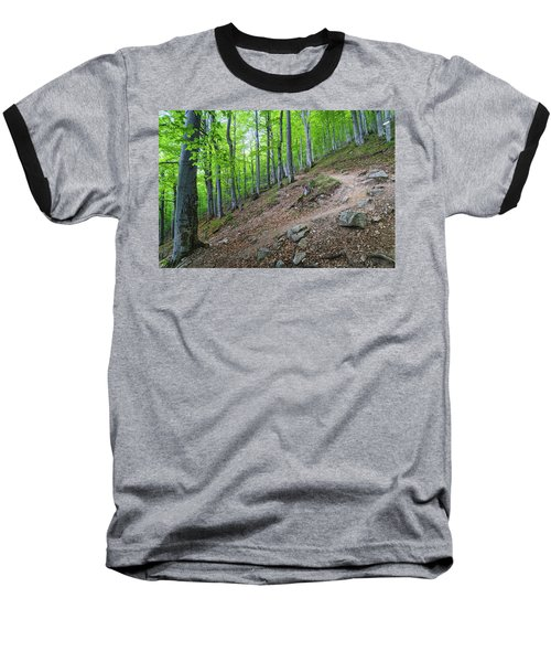 Forest On Balkan Mountain, Bulgaria Baseball T-Shirt
