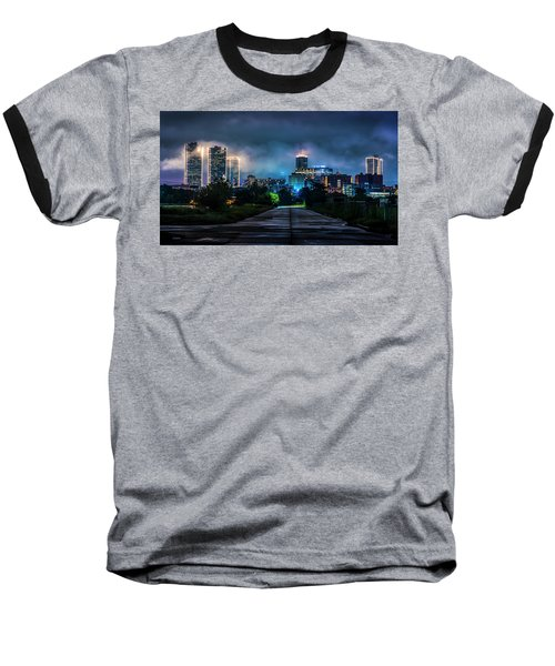 Baseball T-Shirt featuring the photograph Fort Worth Lights by David Morefield