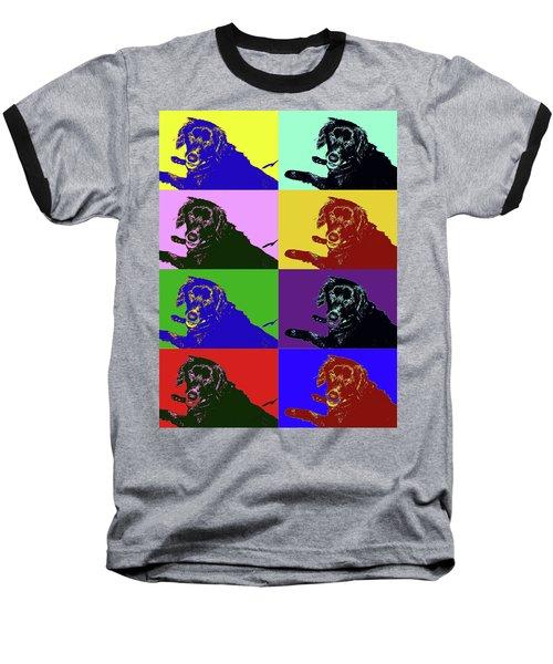 Foster Dog Pop Art Baseball T-Shirt