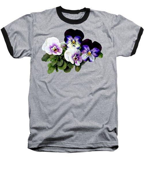 Four Pansies Baseball T-Shirt