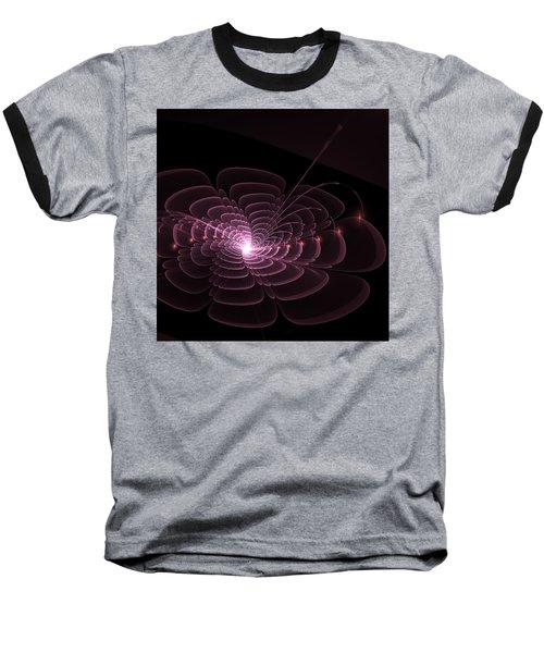 Fractal Rose Baseball T-Shirt