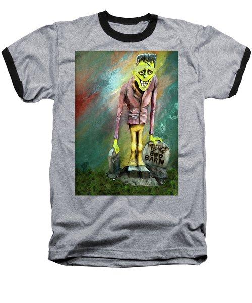 Frankie At The Boo Barn Baseball T-Shirt