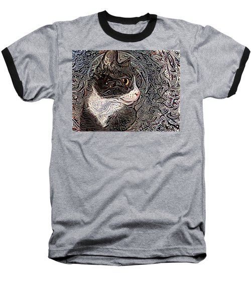 Franklyn The Tuxedo Cat Baseball T-Shirt