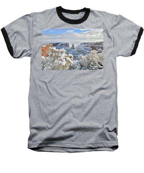 Fresh Snow At Independence Canyon Baseball T-Shirt