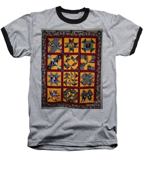 Frida Quilt Baseball T-Shirt