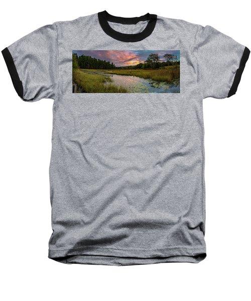 Friendship Panorama  Sunrise Landscape Baseball T-Shirt