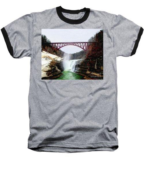 Frletchworth Railroad And Falls Baseball T-Shirt