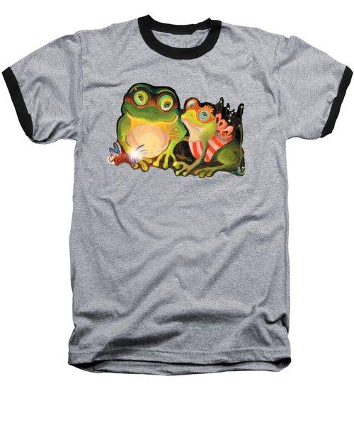 Frogs Overlay  Baseball T-Shirt